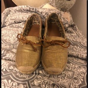 Gold Sperry Top-Sider